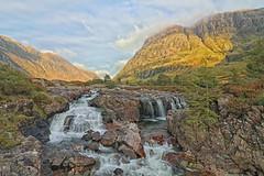 Glen Coe Waterfalls. (Adrian Walker.) Tags: elements scotland glencoe waterfalls landscape rocks achtoctan hills mountians canon80d tamron koodfilters polarizer colorefexpro4 river efs1018mm sky