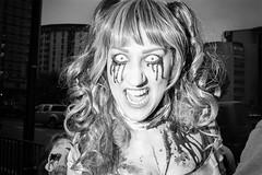 Panic On The Streets Of Bristol (Shot In The Street) Tags: streetphotography hp5 ilfordhp5 street halloween bw 2016 film zombie canoneos3 analogue candid mono monochrome bristol filmisnotdead blackandwhite black ilford bristolzombiewalk2016 white