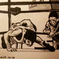 "Inktober 17 --detail--""Rocky"" (1976) by John G. Avildsen."