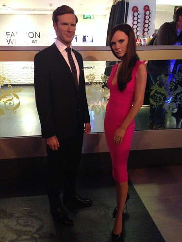 Victoria & David Beckham figures at Madame Tussauds London