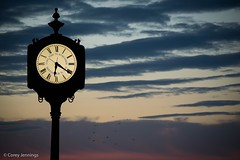Time Ticks On (CoreyJennings) Tags: shooteverything shoot2kill newjersey bay shore seaside nikon ocean sunset beach time clock