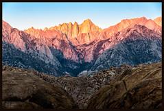 Dawn's Light on Mt Whitney (jk walser) Tags: alabamahills california d800e dawn highsierraworkshops jkwalser mtwhitney sierramountains workshop sunrise