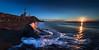 Over the horizon 凌跨地平線 (kaising_fung) Tags: lighthouse sunrise morning sea shore beach rocks waves