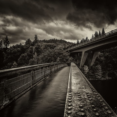 Bridges (rgcxyz35) Tags: loch leaves lochfaskally bridges a9 footbridge scotland perthandkinross fall pitlochry autumn