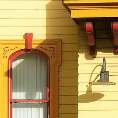 umbrous urban detail (msdonnalee) Tags: window windowframe lightfixture curtain yellow fenster finestra fentre ventana janela shadow schatten schafften sombra sombre ombre ombra wall mauer muro cortina architecturaldetail shade