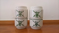 NZ Army Egg Cups & Salt & Pepper (its-mrb) Tags: vitrified crownlynn eggcups saltpeppershakers nzdefenceforce nzarmy
