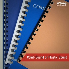 Types of Book Binding-Comb Bound or Plastic Bound (SirSpeedyIndore) Tags: bookbinding services plasticbound combbound sirspeedy