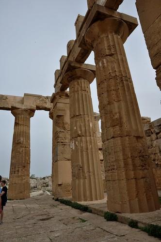 Selinunte (Sicilia-Italia). Templo E o de Hera. Detalle