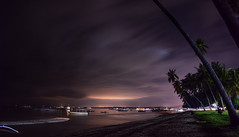 Bohol Night (free3yourmind) Tags: bohol night philippines palms beach clouds sea boats