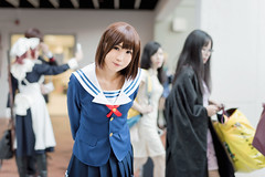 Katou Megumi (hokkeiv) Tags: nikon d810 fx nikkor f14g cosplay portrait   2016 58mm