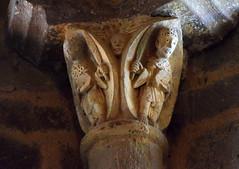 Writing on Stone (YIP2) Tags: chapiteaux capitals church stone pillar column medieval art facade abbaye lubersac limousin corrze sainttienne