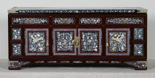 Very Ornate Oriental Chest with Mother-of-Pearl Inlay ($212.80)