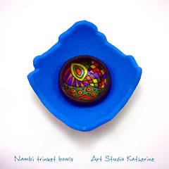 Trinket bowls (Art Studio Katherine) Tags: nena nevenkasabo acrillapolimerica artstudiokatherine polymerclay polimerskaglina patepolymere fimo fun boje nambi tutorial technique trinket bowl playful