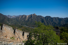 The Great Wall of China - Mankind meets nature #2 (Oidoy Photography) Tags: breathless landscape nature mutianyu hauirou wall great china beijing travel mountain hills sunny blue sky atumn architecture chinese history outdoor hill asian asia mountains mountainside