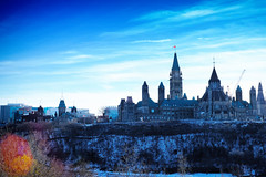 Cool Colour on the Hill (DHaug) Tags: parliamenthill ottawa coolcolour flare gothicrevival november 2016 thehill government canada landscape fujifilm xt2 xf35mmf14r architecture skyline