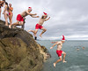 Christmas Swim at the Forty Foot (John Coveney Photos) Tags: christmas christmasswim codublin dublin fortyfoot ireland lightroom lightroomprintmodule photoshop sandycove coldwater composite diving howishotit jumping layermasks swimming wwwjohncoveneyie