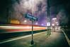 as trains go by (Blende57) Tags: train trains station trainstation platform night rain drizzle raindrops longexposure wideangle motion speed blur motionblur lighttrails