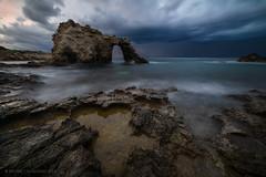 Stargate #2 (davide.calasanzio) Tags: landscape siracusa alba arco clouds longexposure mare paesaggio rocce sea sicilia sunrise flickrsicilia