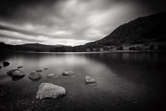 Rydal Water (Future-Echoes) Tags: 4star 5star 2016 bw blackandwhite cloud cumbria lake longexposure mountain reflections rock rydal thelakedistrict water
