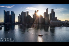 City Canyon (draken413o) Tags: singapore city skyline skyscrapers urban places scenes marina bay sunset aerial asia travel destinations architecture panorama
