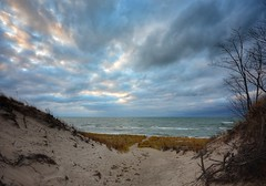 Evening in the Dunes (mswan777) Tags: sunset lake michigan great lakes waves grass sand dune beach seascape nature nikon d5100 sigma 1020mm evening