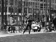 Skate Like The Wind (Miranda Ruiter) Tags: rotterdam blackandwhite photography people skating streetphotography