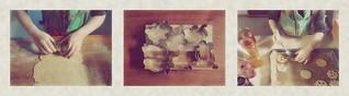 Lotti making Christmas Cookies Kekse backen für Weihnachten mit Lottchen: Mürbteigkekse ausstechen - neue Formen - Linzeraugen mit selbstgemachter Marmelade füllen: Quitten. rote Trauben Ernte Garten, Marillen (Wachau). Advent Krampus Nikolo Geburtstag