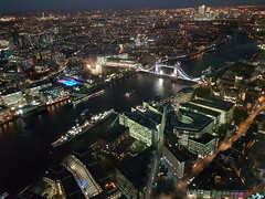 London at night (Donald Morrison) Tags: london theshard shard view city day light sun evening night