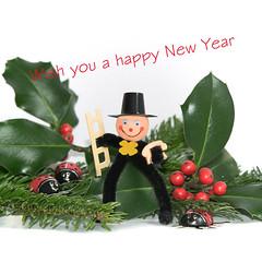 Happy New Year... (jandmpianezzo) Tags: new year treating biglietto auguri anno nuovo 2017 coccinelle frutti verde spazzacamino fortuna