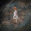 altered: course (hoolia14oh4) Tags: altered collage art child time space spiral milky way galaxy stars distance girl doll vintage