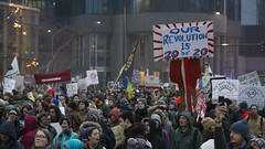 Inauguration day protest against Donald Trump (Fibonacci Blue) Tags: minneapolis mpls protest march trump demonstration event dissent republican outcry activism outrage twincities activist minnesota election inauguration president resist resistance gop crowd people outdoor