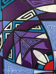 "IMG_1525 (Stephanie ""Biffybeans"" Smith) Tags: blue red art painting artist purple geometry vibrant modernart mandala selftaught sacred meditation spirituality psychedelic lehighvalley visionary stephaniesmith transformational sacredart sacredgeometry visionaryartist personalgrowth bananafactory biffybeans"