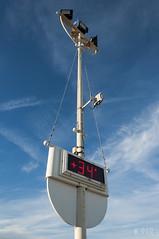 Hot ! (K.rar) Tags: blue summer sky italy hot four italia panel screen bleu ciel affichage temperature t chaud 34 panneau italie bibione degrees thirty cran quatre trente degr
