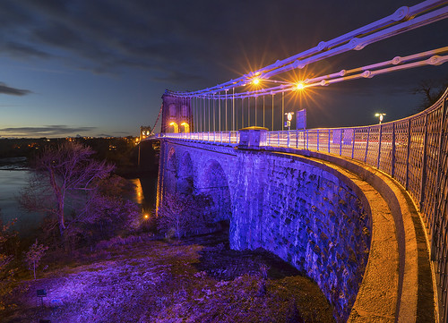 'Painting The Town Purple' - Menai Bridge, Anglesey