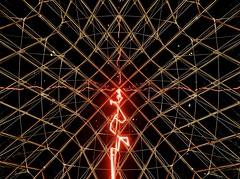 Sous le plus grand chapiteau du monde (partie 1) - Claude Leveque (Pyramide du Louvre, Paris) - Lightning in Pei's pyramid (Max Sat) Tags: light red black paris france colors museum architecture night french rouge gold lights evening design lampe colorful noir nightlights fuji pyramid louvre couleurs wideangle ciel soir 75001 nuit pyramide atnight pei lelouvre davincicode xe1 lumieres interieur musee lumiere maxsat carre carree francais xf14 fujixe1 maxwellsaturnin sousleplusgrandchapiteaudumonde claudeleveque