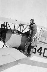 S.S. Shulemson with Fleet Finch II aircraft, No. 3 Elementary Flying Training School, RCAF, London, Ontario, 1942 / S.S. Shulemson sur lavion Fleet Finch II  la 3e cole lmentaire de pilotage de lARC  London (Ontario), en 1942 (BiblioArchives / LibraryArchives) Tags: ontario canada london wwii arc lac 1942 bac secondworldwar rcaf libraryandarchivescanada deuximeguerremondiale bcatp bibliothqueetarchivescanada britishcommonwealthairtr