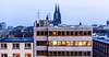 Night falls in at Cologne, Germany (SkyBlue Photography Pro) Tags: travel sunset panorama church germany deutschland evening twilight view dom sony cologne messe koln duitsland keulen cathdral