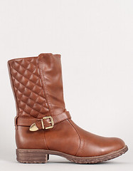 "quilted mid calf boot cognac • <a style=""font-size:0.8em;"" href=""http://www.flickr.com/photos/64360322@N06/15323356858/"" target=""_blank"">View on Flickr</a>"