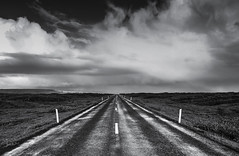 Road (Ch3micals) Tags: road cloud white black iceland cloudy