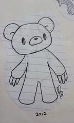 """Gloomy Bear"" (maricarmendn) Tags: sketch drawing gloomybear"