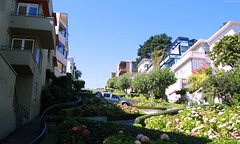 "Boxy apartments casting shadows on Lombard Street • <a style=""font-size:0.8em;"" href=""http://www.flickr.com/photos/34843984@N07/15359793709/"" target=""_blank"">View on Flickr</a>"