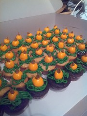 Made my own pumpkin patch (mommyster) Tags: pumpkin vines chocolate homemade vanilla edible frosting fondant