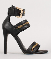 "zipper strappy open toe heel blk • <a style=""font-size:0.8em;"" href=""http://www.flickr.com/photos/64360322@N06/15372885998/"" target=""_blank"">View on Flickr</a>"