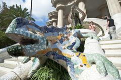 Salamandra (Gianpietro Bellumori) Tags: park arte sole vacanza barcellona spagna guel d700
