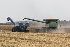 It is harvest time in Iowa... (My Kona Girl) Tags: harvest johndeere kinze canon60d iowacornharvest