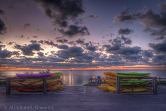 Color Contest (MichaelSOwens) Tags: morning sky colors clouds sunrise keys bright florida kayaks bahiahonda