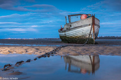 Meols shore, Wirral (davenewby123) Tags: sunset england seascape boat seaside unitedkingdom wirral merseyside canoneos70d meolsshore sigma183518