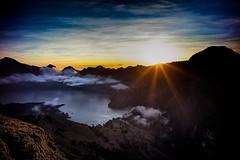Sembalun Crater Sunset - Camp for Reaching Peak of Rinjani Mountain (Herry Photos) Tags: sunset lake indonesia lombok anak rinjani segara westnusatenggara sembaluncrater