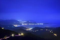 Night (Pai Shih) Tags: road blue light sea mountain night landscape coast taiwan keelung