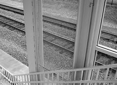 Derailed (Koen Bazelmans) Tags: bw lines composition zeiss blackwhite nikon pittsburgh perspective railtrack distagont235 d700 zf2